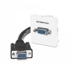 Plastron équipé câblé HD15 Femelle / Femelle de 0,2 m