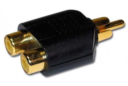 adaptateur 2 rca femelle vers 1 rca male coudrais music light. Black Bedroom Furniture Sets. Home Design Ideas