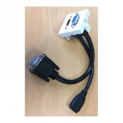 Plastron équipé HDMI VGA Femelle vers HDMI VGA Femelle de 0,2 m