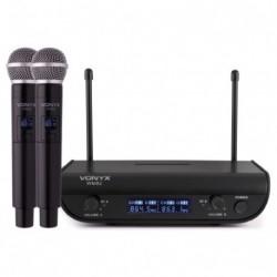 Set de microphones sans fil 2 canaux avec 2 micros main