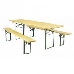 ENSEMBLE BRASSERIE : TABLE + 2 BANCS