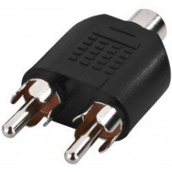 Adaptateur 2 Audio Stéréo RCA Mâle vers Prise Mini-jack 3.5mm Femelle