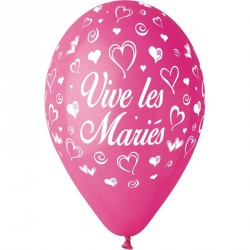 10 BALLONS VIVE LES MARIES