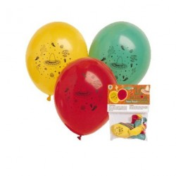 10 BALLONS AMBIANCE MEXICAINE