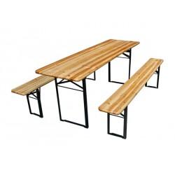TABLE - AVEC 2 BANCS - 200 x 60 x 76 cm