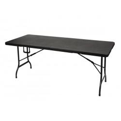 TABLE PLIANTE IMITATION BOIS 180 x 75 x 74 cm