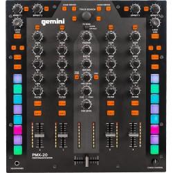 GEMINI PMX20 - Mixer DJ numérique 4 canaux USB, MIDI
