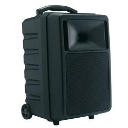 ENCEINTE AMPLIFIEE 180W SUR BATTERIE + MICRO HF MAIN + 1 LECTEUR CD/USB