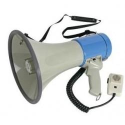 MEGAPHONE 25W AVEC MICRO SUR CABLE - PILES NON INCLUSES
