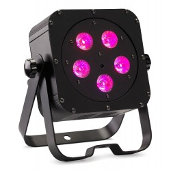 Projecteur compact à LEDs six couleurs SLIM